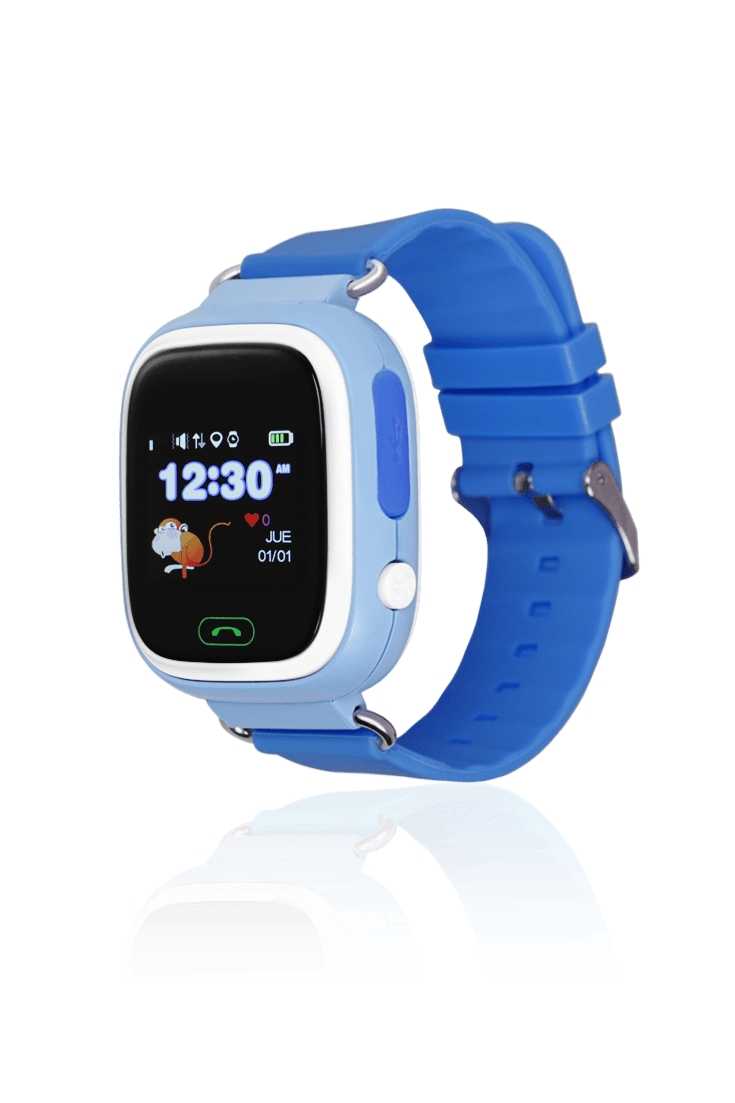 Reloj azul para niños con GPS