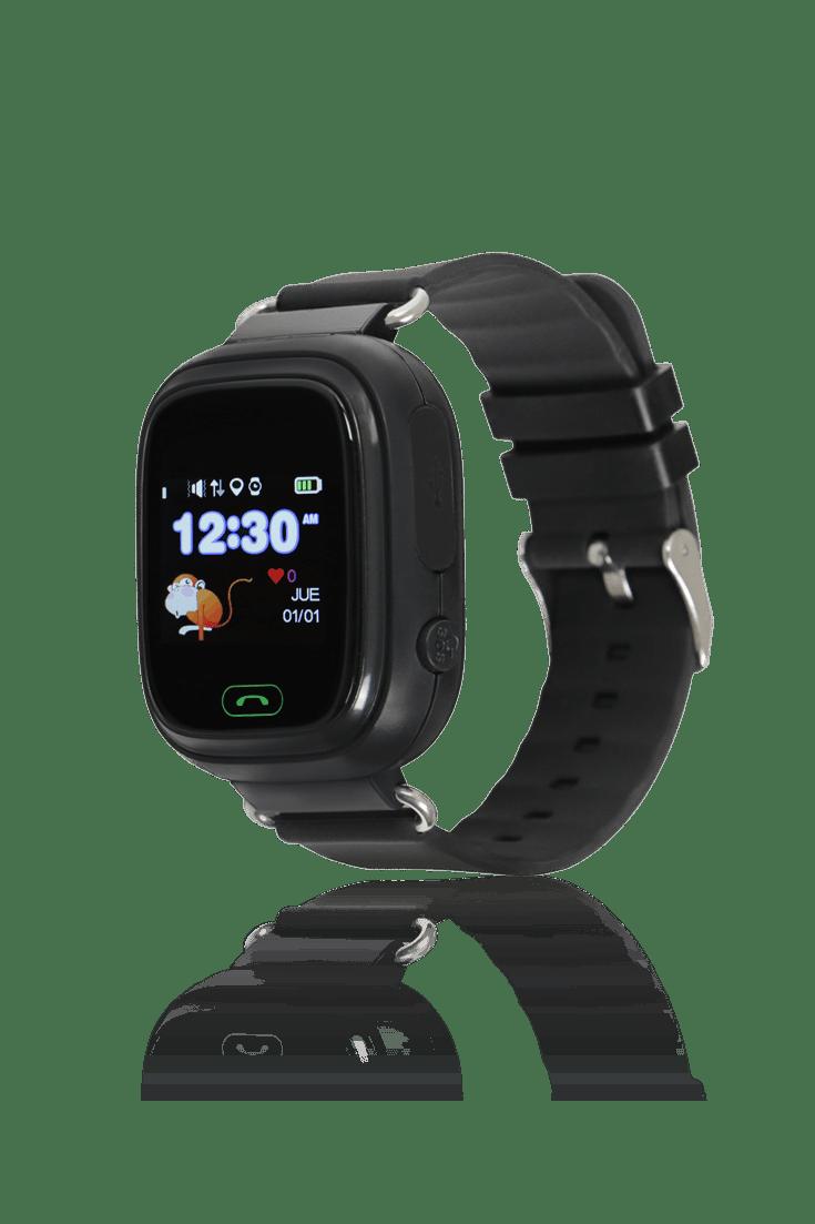 Reloj negro para niños con GPS