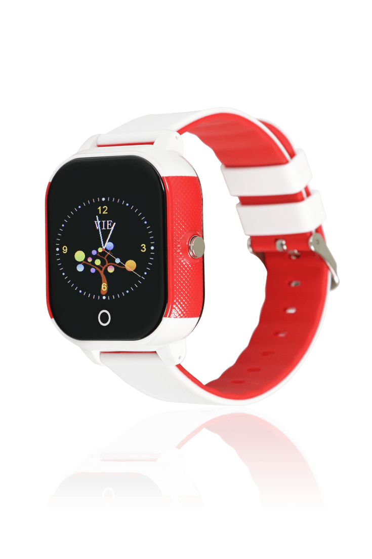 Reloj infantil smartwatch blanco rojo con gps para niños