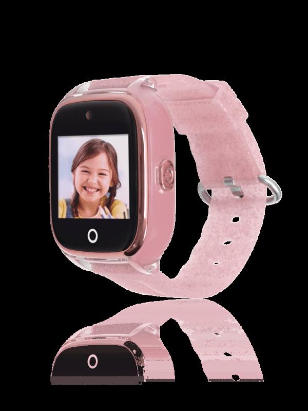Reloj smartwatch rosa con gps para niños