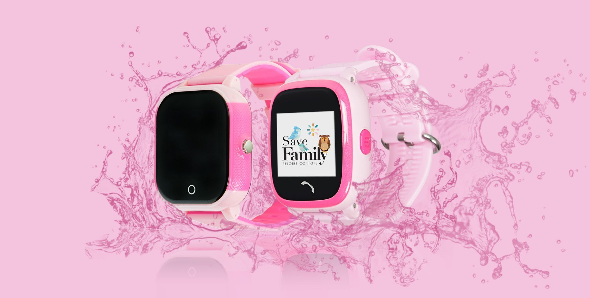 Relojes Save Family GPS Smartwatch infantil de color rosa