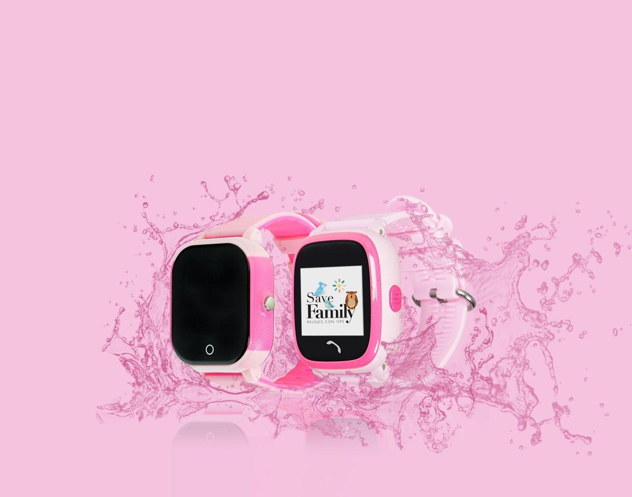 Smartwatch color rosa infantil con gps y llamadas
