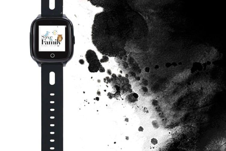 relojes inteligentes con gps save family para niños infantil superior negro con camara y llamadas
