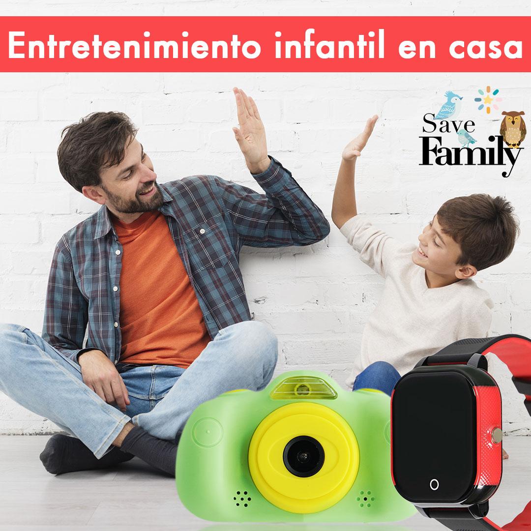 Diversión en casa, diversión digital segura, entretenimiento para niños, entretenimiento durante coronavirus, relojes gps para niños. SaveFamily GPS