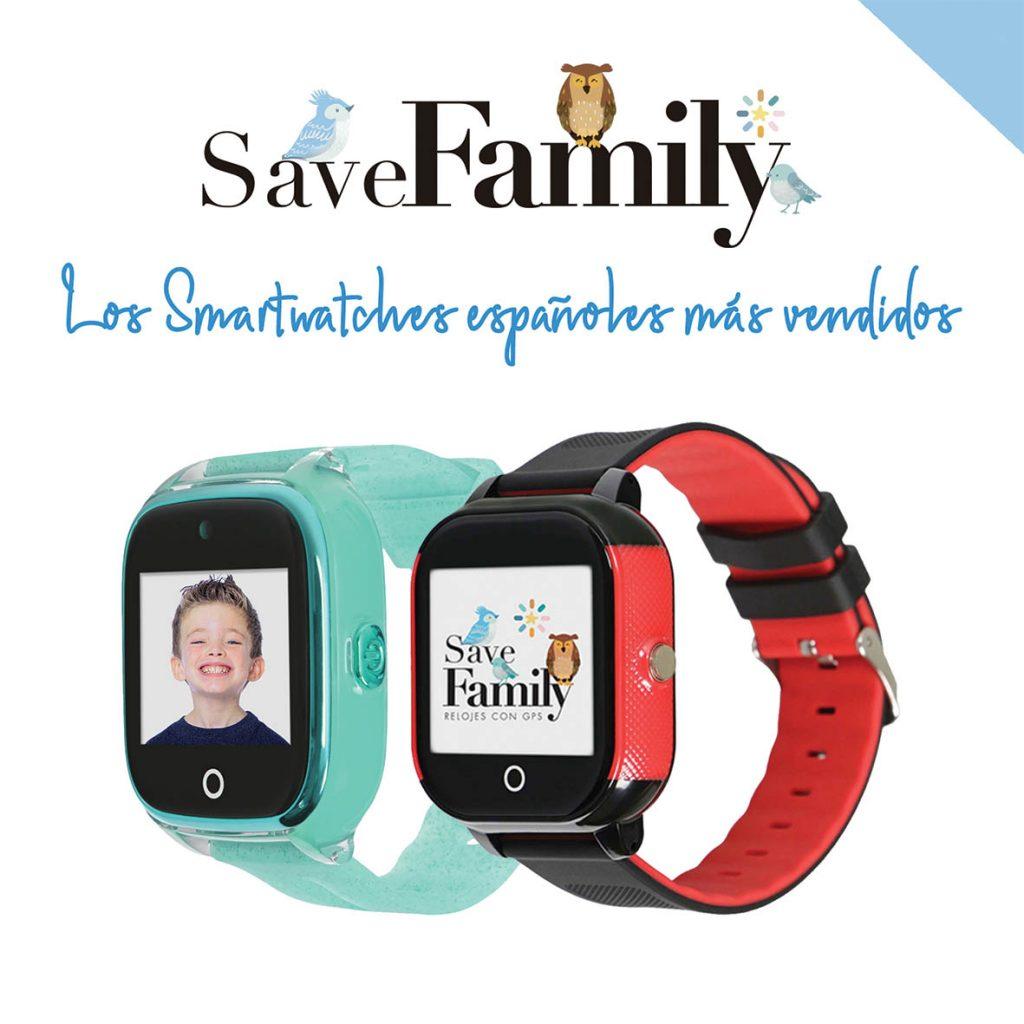 reloj con gps para niños más vendido marca española save family