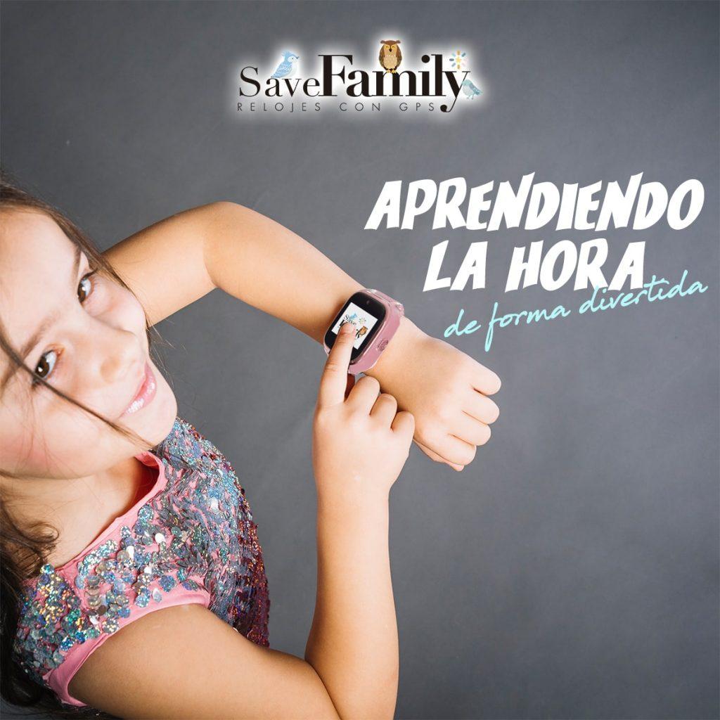 reloj para niños con gps savefamily aprender la hora