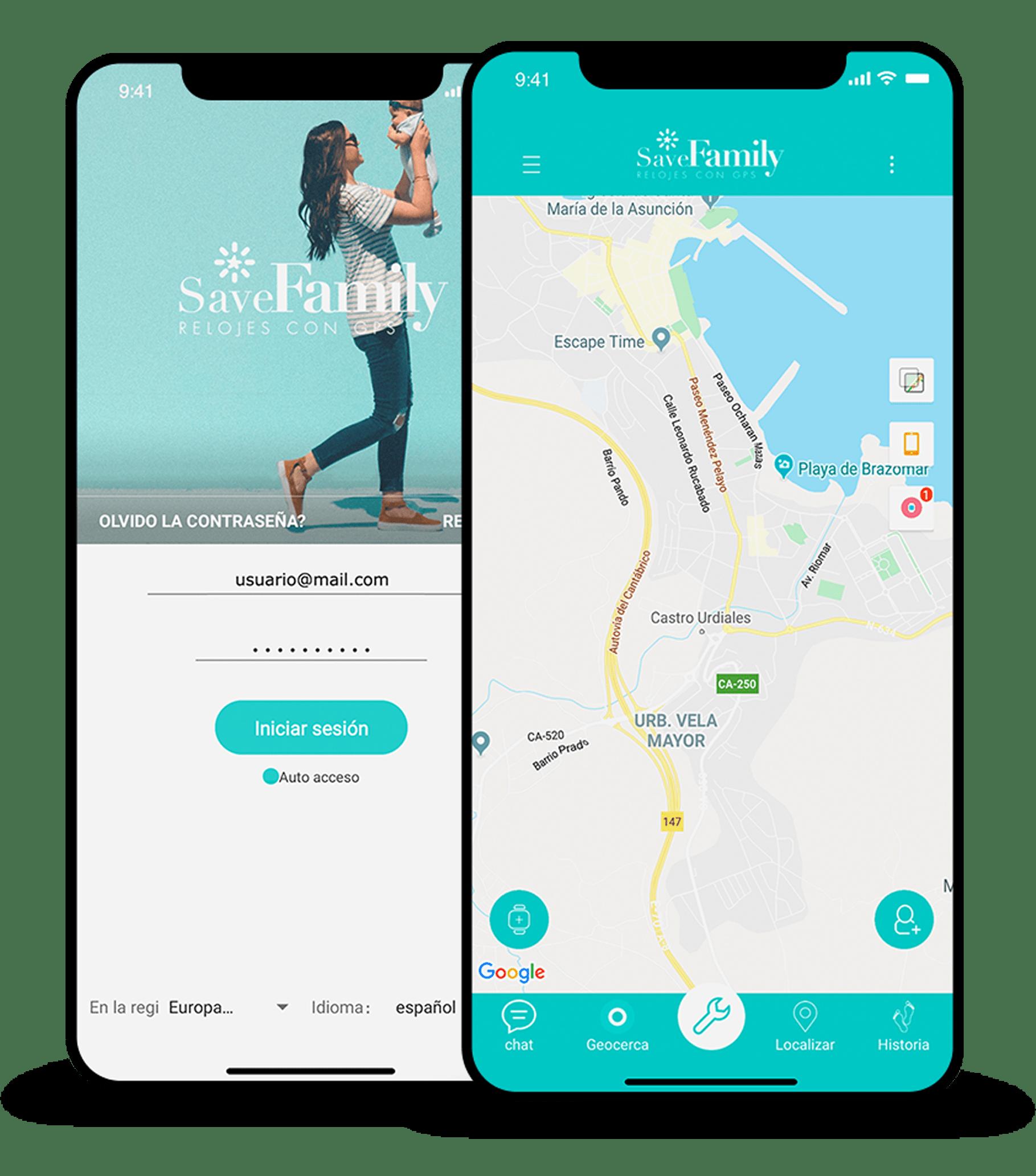 App móvil savefamily