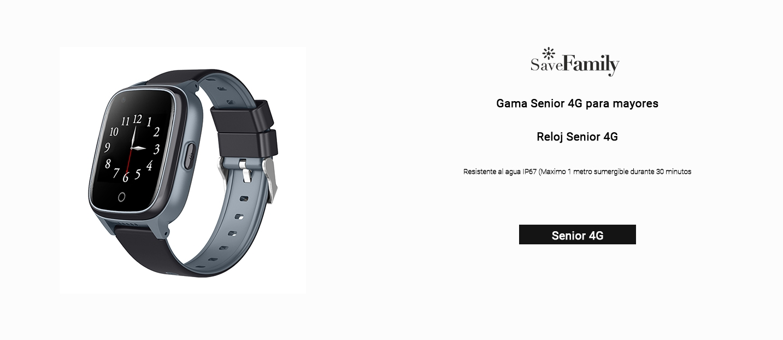 Reloj senior gps 4g